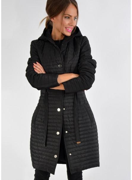 płaszcz przejściowy ocieplany czarny