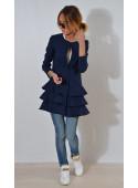 Płaszcz z falbanami