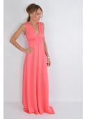 Letnia sukienka maxi koral