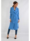 Płaszcz wiosenny niebieski