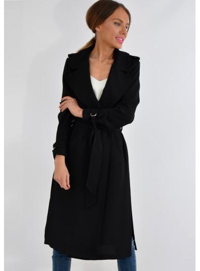 Płaszcz wiosenny czarny