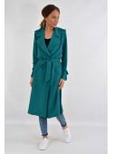 Płaszcz wiosenny zielonyo-szmaragdowy