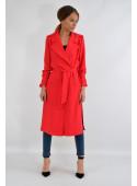 Płaszcz wiosenny czerwony