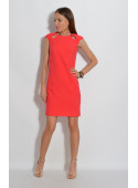 Sukienka z łezkami czerwona