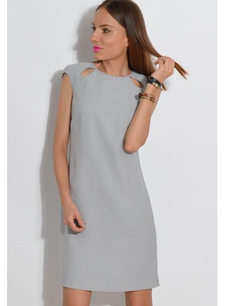Sukienka z łezkami szara
