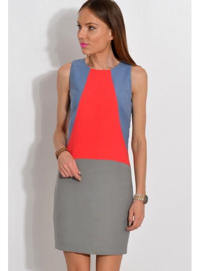 Sukienka trójkolorowa