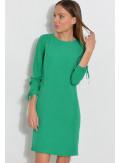 Sukienka z guziczkami na boku zielona
