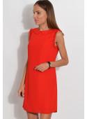 Sukienka z ozdobnymi ramionami czerwona