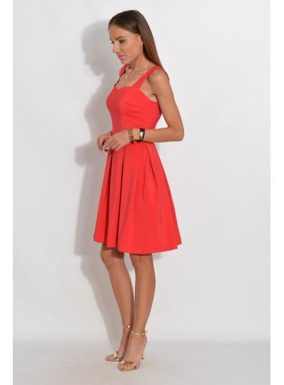 Sukienka z dekoltem w serce czerwona