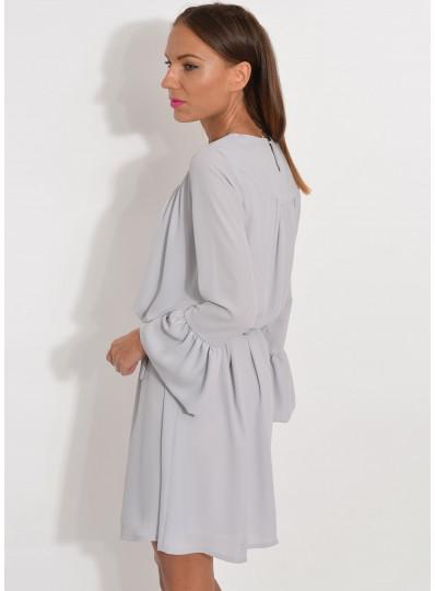 Sukienka z żorżety szara