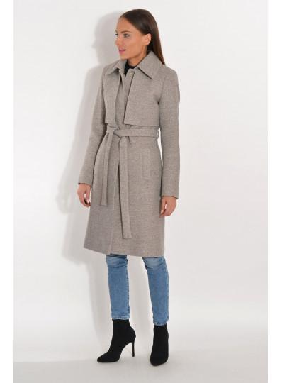 Płaszcz z pelerynką szary