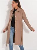 Płaszcz z pelerynką camelowy beż