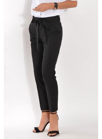 Spodnie z paskiem na kant czarne
