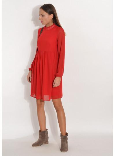Sukienka szyfonowa  ciemna czerwień