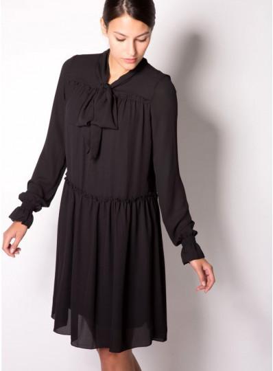 Sukienka z żorżety chabrowa