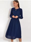 Sukienka z żorżety z zakładaną górą
