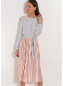Sukienka z plisowanym dołem