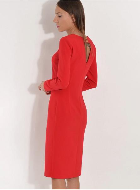 Sukienka z wyciętymi plecami czerwona