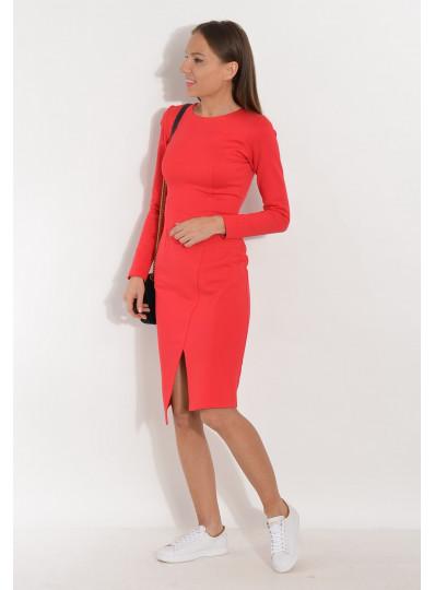 Sukienka z dżerseju czerwona