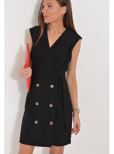 Sukienka z dwurzędowymi guzikami