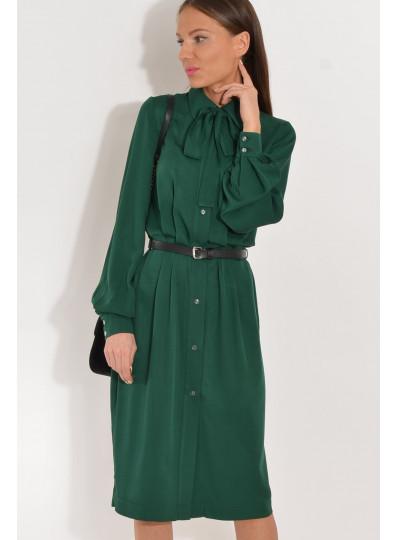Wiskozowa sukienka Loretta butelkowa zieleń