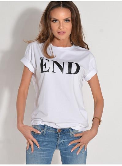 T-shirt THE END biały