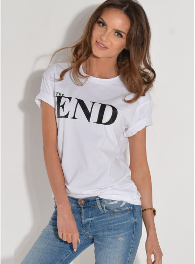 T-shirt THE END biały