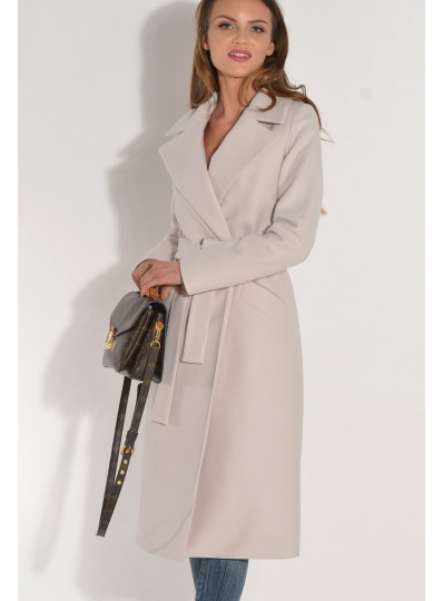 Płaszcz przejściowy z paskiem