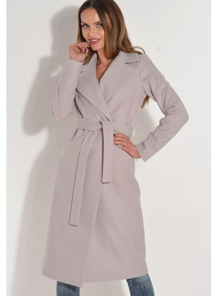 Płaszcz przejściowy z paskiem liliowy