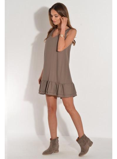Sukienka w serek dwie falbanki