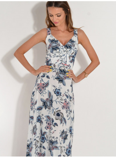 Letnia sukienka maxi biała