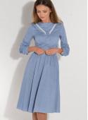 Sukienka rozkloszowana z gipiurą