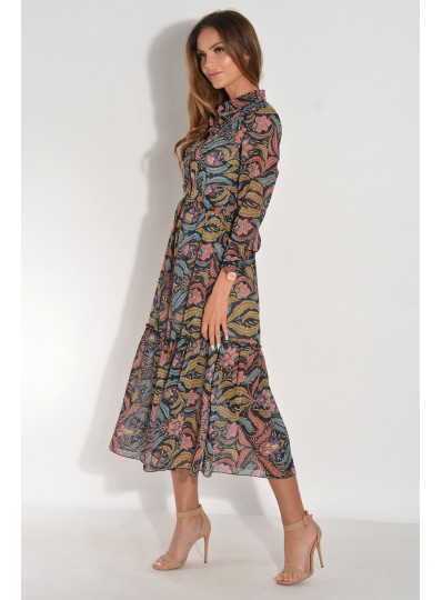 Sukienka szyfonowa w kwiaty