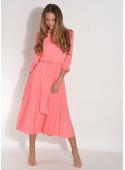 Sukienka EMILIA z plisowanym dołem