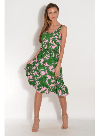 Sukienka Lija zielone liście