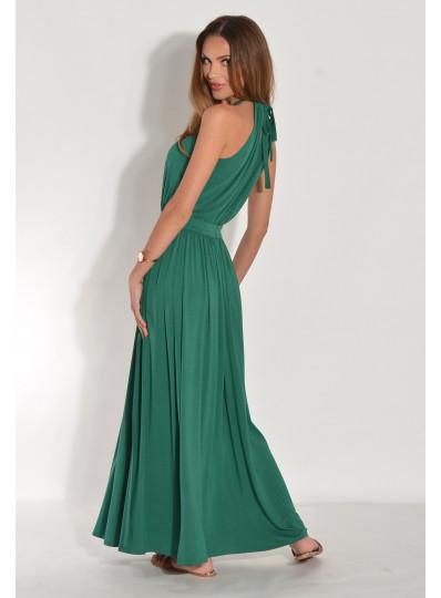 Alicja Dzianinowa sukienka maxi z rozcięciem