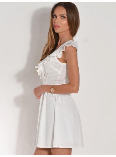Sukienka Leo z falbankami na przodzie