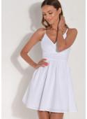 Sukienka z batystu na ramiączkach