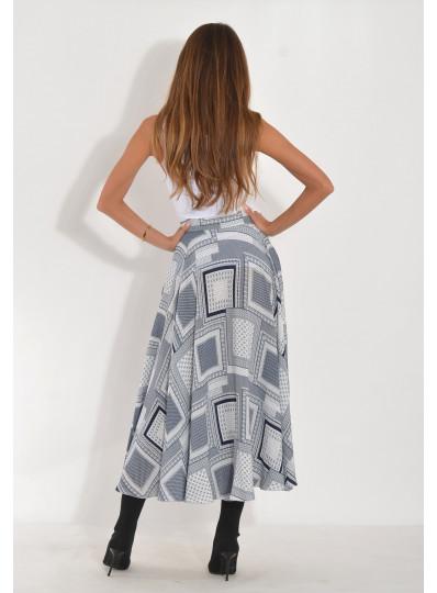 spódnica midi z pełnego koła
