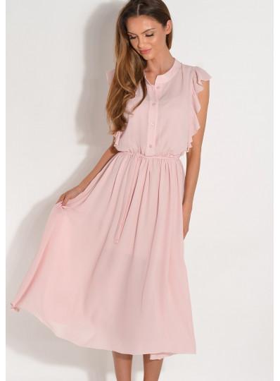 Sukienka z żorżety z falbanką