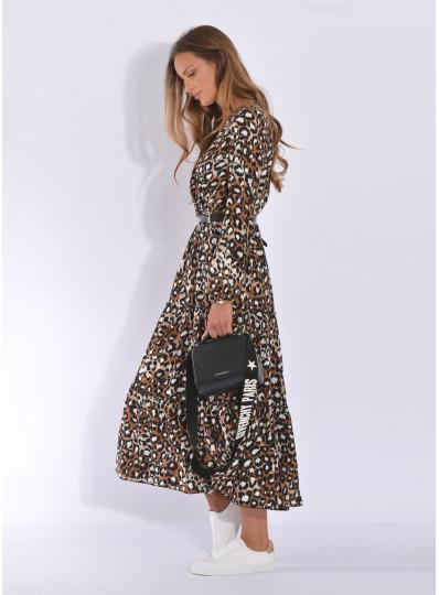 Sukienka zakładana w panterkę