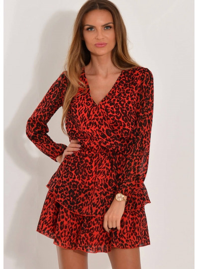 Sukienka Sofia czerwona panterka