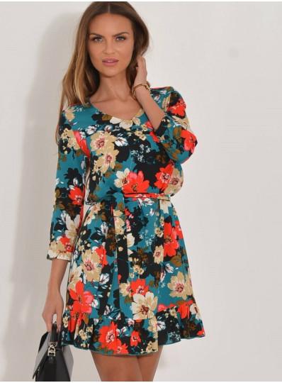 Sukienka Karmen w kwiaty