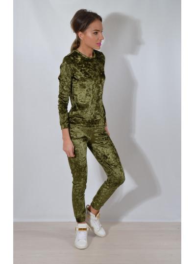 Bluza welur zielone