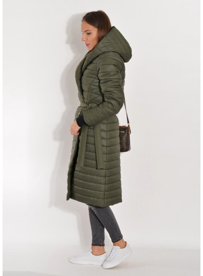 Płaszcz zimowy khaki