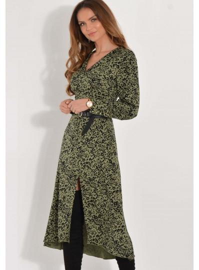 Sukienka Alison khaki w centki