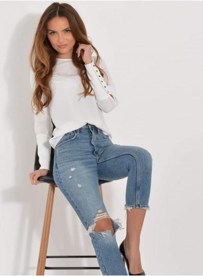 Bluzka Lidia z szerokim mankietem
