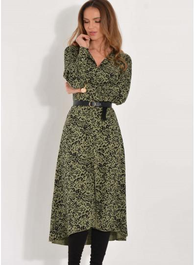 Sukienka Alison khaki w cętki