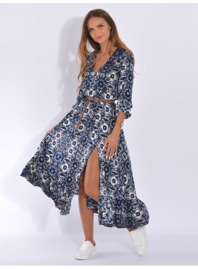 Sukienka maxi z rozporkiem