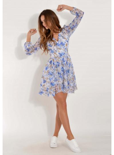 Sukienka Londa w niebieskie kwiaty